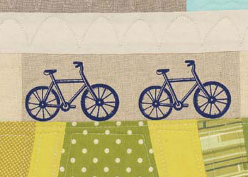 Baby Quilt Ideas: Rolling on Through, Mini Modern Landscape Quilt by Krista Fleckenstein