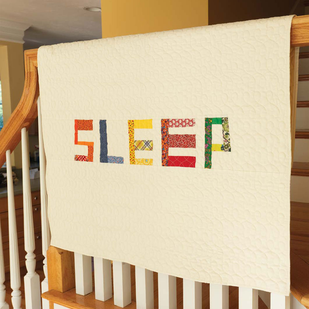 get two baby quilt patterns for beginners in this collection including this sleep quilt