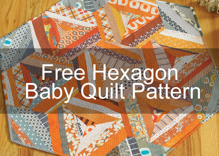 Hexagon Baby Quilt by Malka Dubrawsky