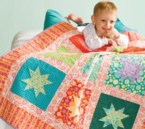 Free simple quilt pattern: Be a Star