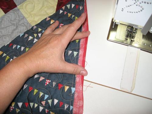 binding13 Mock Hand Quilt Binding by Machine
