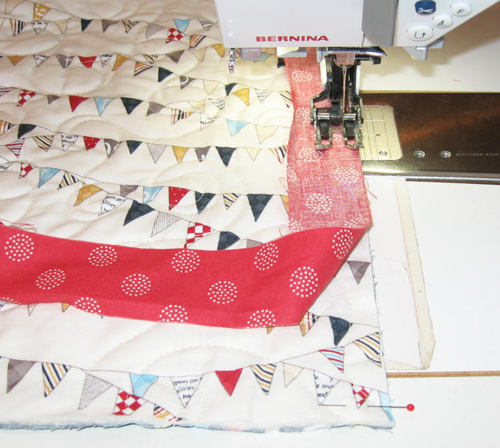 binding6 Mock Hand Quilt Binding by Machine