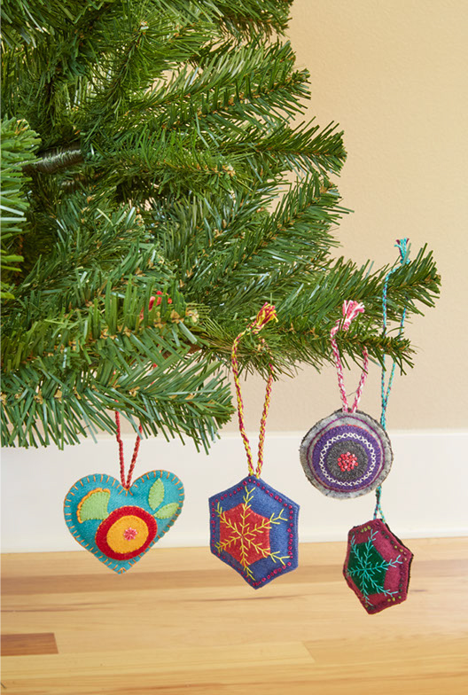 ornaments, studio, gifts, felt, baubles, christmas decorations