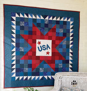 Free patriotic quilt pattern: Born in the USA