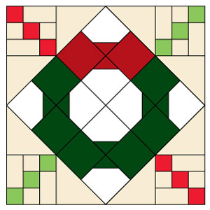 Bow Tie Wreath: FREE Patchwork Quilt Block Pattern - The Quilting ... : block patterns for quilts - Adamdwight.com