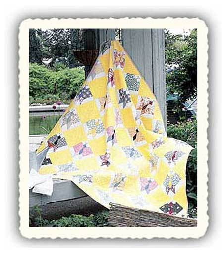 butterfly Friday Free Quilt Patterns: Vintage Pieced Butterfly Quilt Pattern