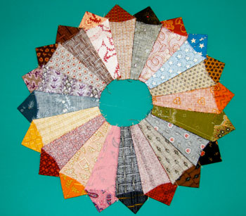 charm 9 Charm Square Dresdens—Free Quilt Block Pattern
