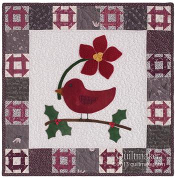 christmas tweet quilt Wool Applique Tutorial + Project Ideas
