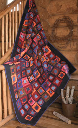 Free log cabin quilt pattern: Circling the Cabin pattern