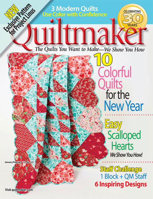 coverdown1 Quiltmakers Jan/Feb Highlights