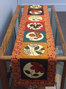 creative uses for fabric panels essence table runner 225x300 Off the Wall: Creative Uses for Fabric Panels