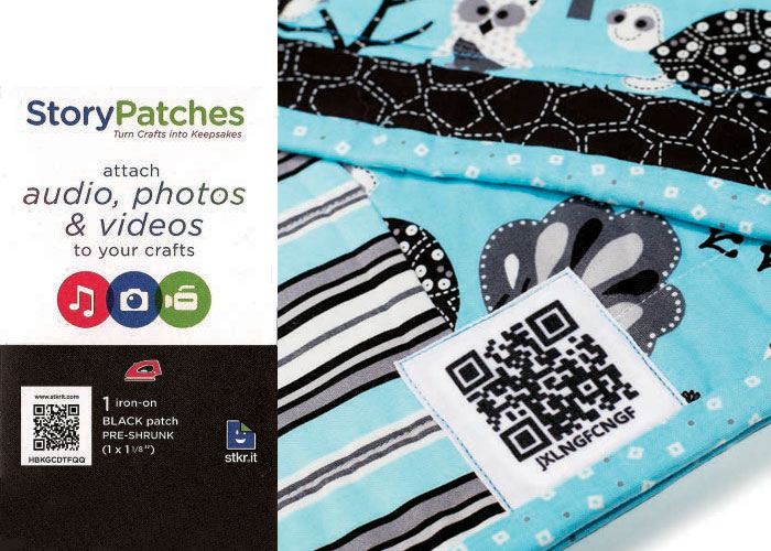 Label Your Quilts with StoryPatches from stkr.it. by Leslie Tucker Jenison
