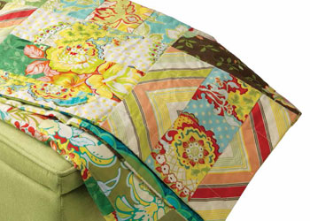 Easy Quilt Pattern: Scrappy Lap Quilt by Lindsey Murray