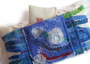 Fiber Art Projects: Starry Starry Night Scented Dream Pillow by Jeanelle McCall