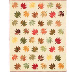 Fluttering Leaves easy, batik quilt project