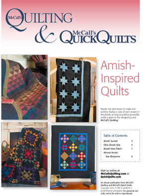 Free Amish inspired quilt patterns