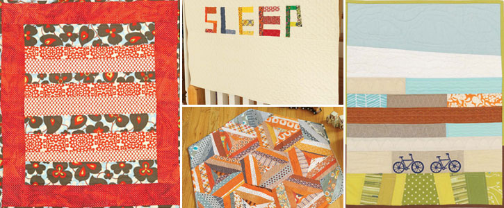Get all four of these free baby quilt patterns with this download.