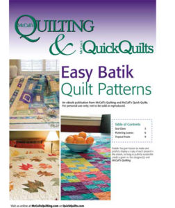 Free and easy batik quilt patterns