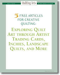 Download your 5 free designs for art quilt patterns.