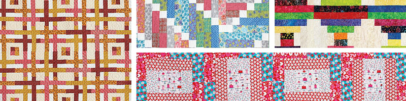 4 free strip quilt patterns for you to download today!