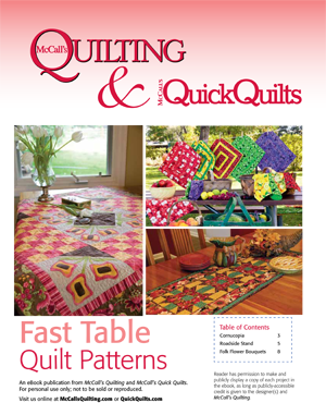 Free tabletop quilt patterns