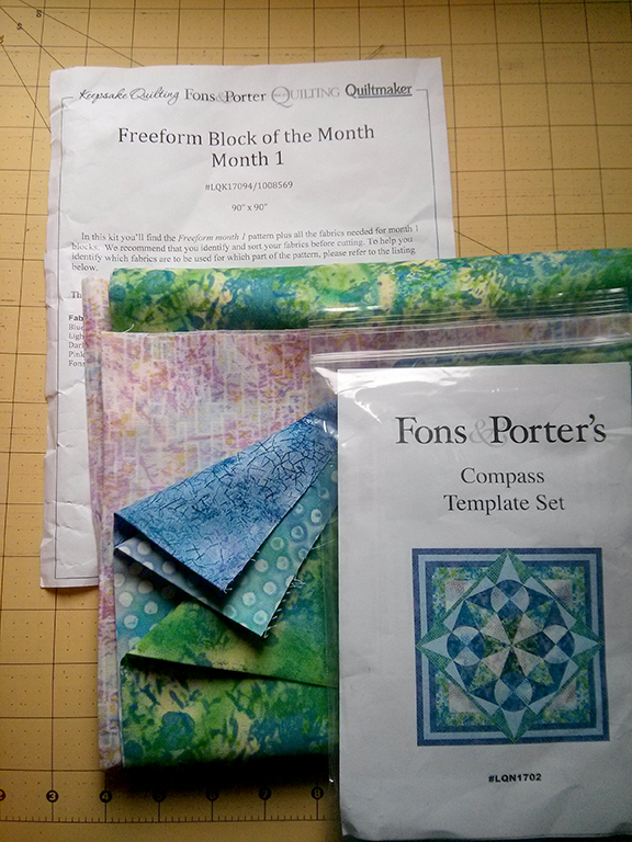 freeform block of the month 1 BOM1 Freeform Block of the Month – Month 1