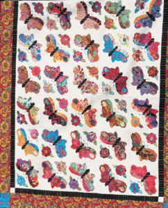 Applique garden quilt pattern