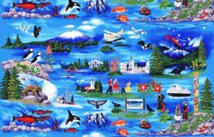 Custom batik from Abby's Reflection of Sitka, Alaska