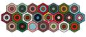 Garden Pavers: Machine-Finished Hexagon Table Runner Quilt Pattern