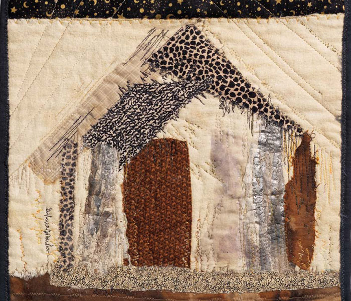 Create a handmade quilted collage like this one with this free download.