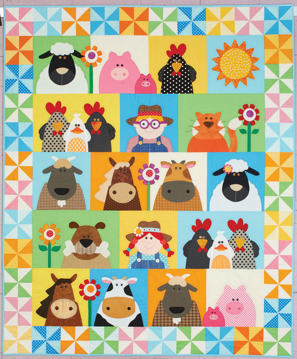 happy quilts farm 10 Happy Quilts for Kids