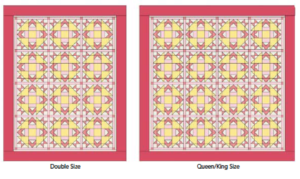 Size Option Charts for Heart Quilts