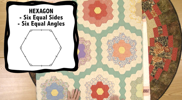 hexagon quilt Course Preview: Essential Math for Quilters