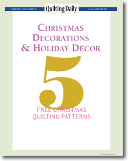 Download your free holiday/Christmas quilting patterns.
