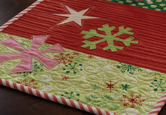 Make beautiful holiday table runners with this great pattern.