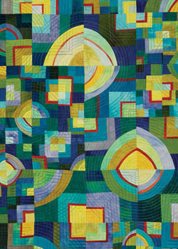 Create embroidered designs such as this with this free guide to how to embroider quilts.