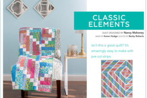 Classic Elements, one of 4 free strip quilt patterns!