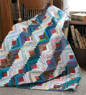 Lakeside Cottage pattern: Free log cabin quilt pattern