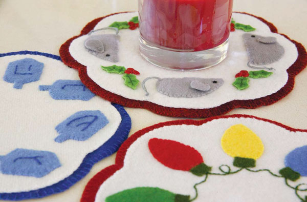 light the way candle mat Wool Applique Tutorial + Project Ideas