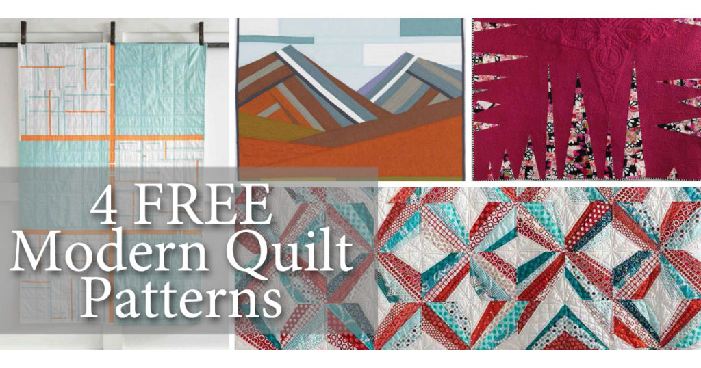 Learn how to recreate traditional patterns with these four modern quilts patterns.