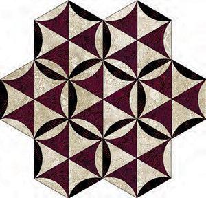 Mosaic Patchwork Bonanza pattern: hand quilting