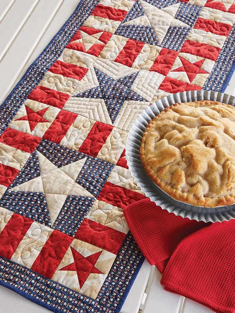 My Patriotic Table Runner Fons Amp Porter The Quilting