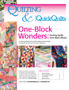 Free one block quilt projects