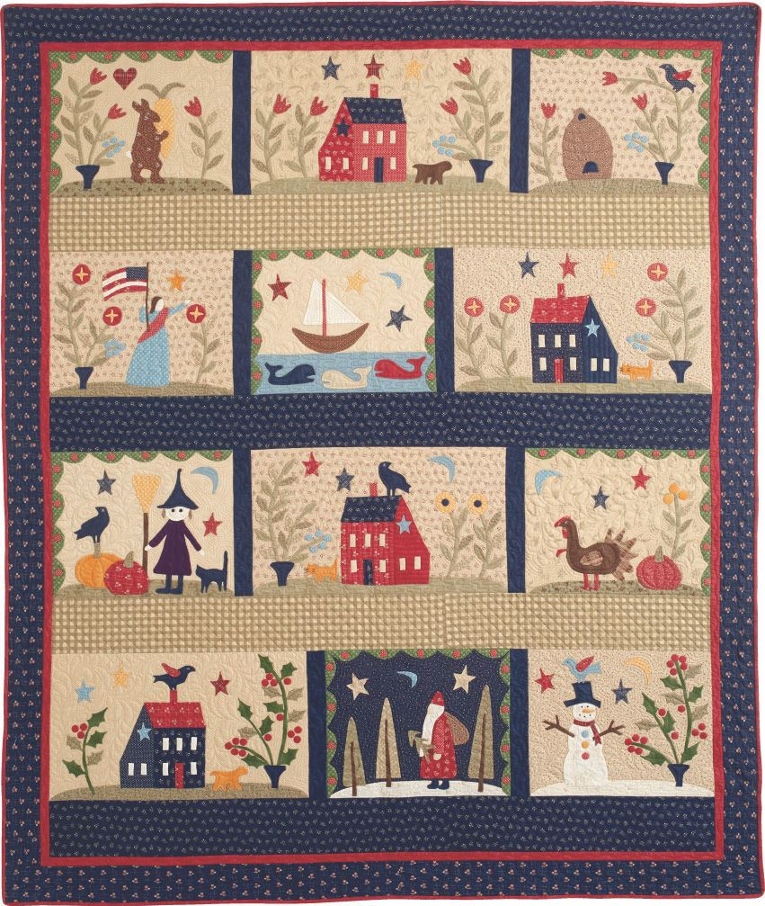 over the meadow bom quilt 4 Block of the Month Quilts to Make in 2017