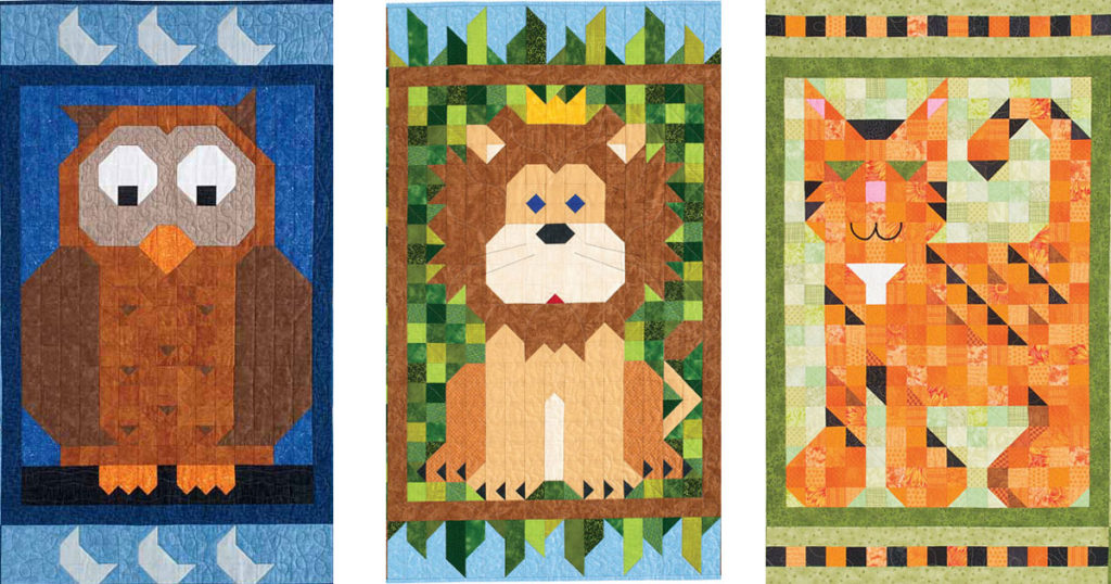 Adorable Baby Quilt Pattern Ideas Featuring an Owl, Lion, Cat, and more