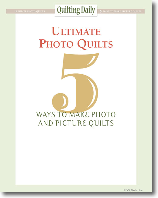 Free eBook on how to make photo and picture quilts.