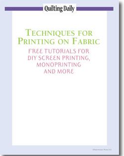 Download your free eBook of tutorials for collagraph printing, monoprinting, and screen printing on fabric.