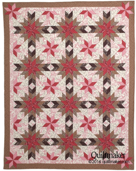 qm1604 chocolate flat450 New Issue: Quiltmaker March/April 2016
