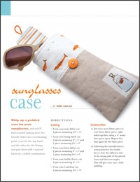 Free Quilt Projects 7: Sunglasses Case