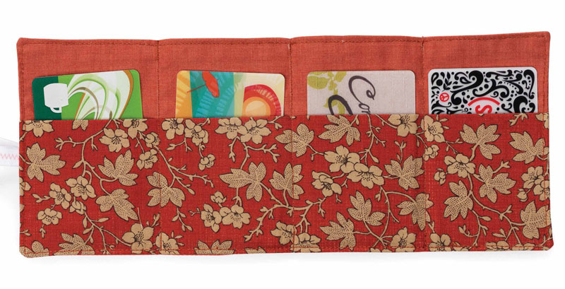 Create quick quilts that have all sorts of purposes, like this card wallet.